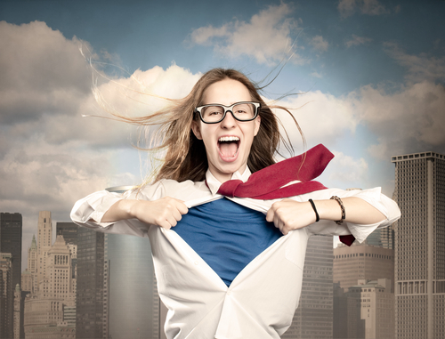 Photo of woman super hero